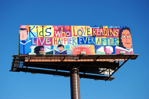 kids who love reading billboard